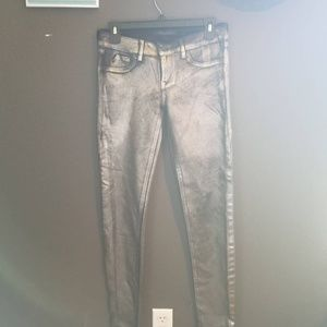 Kenneth Cole Collection metallic skinny